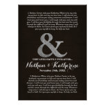 Dark Wood & Silver Wedding Vows Happily Ever After Poster