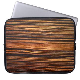 Dark Wood Veneer Laptop Sleeve
