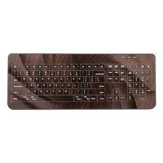 Dark wood wireless keyboard