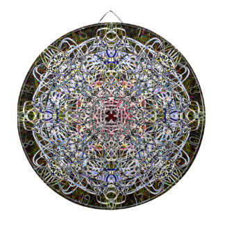 Dark Writing In The Night Mandala Dartboard
