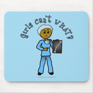 Dark X-ray Technologist Girl Mouse Pad