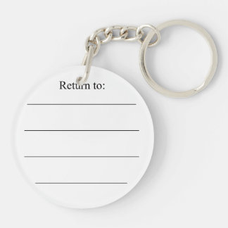 Dark Yellow Cheese Double-Sided Round Acrylic Key Ring