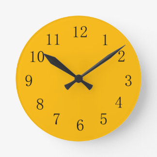 Dark Yellow Kitchen Wall Clock
