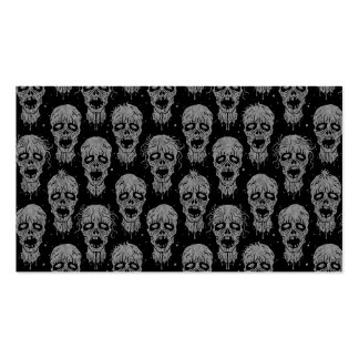 Dark Zombie Apocalypse Pattern Business Cards