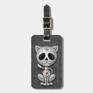 Dark Zombie Sugar Kitten Tags For Bags