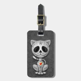 Dark Zombie Sugar Kitten Luggage Tag