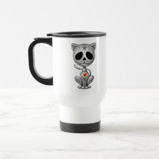 Dark Zombie Sugar Kitten Stainless Steel Travel Mug