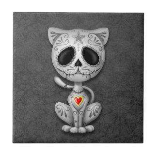 Dark Zombie Sugar Kitten Tile