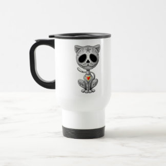 Dark Zombie Sugar Kitten Travel Mug