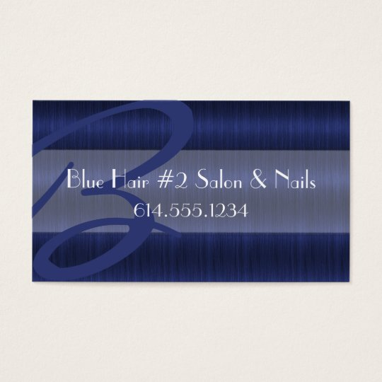 Darker Blue Hair Salon Stylist Business Cards