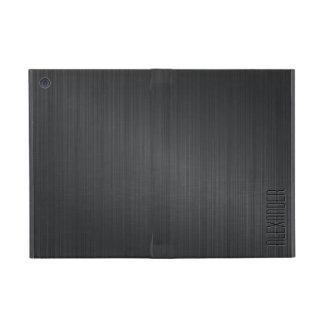 Darker  Gray Metallic Look Brushed Aluminum Cover For iPad Mini