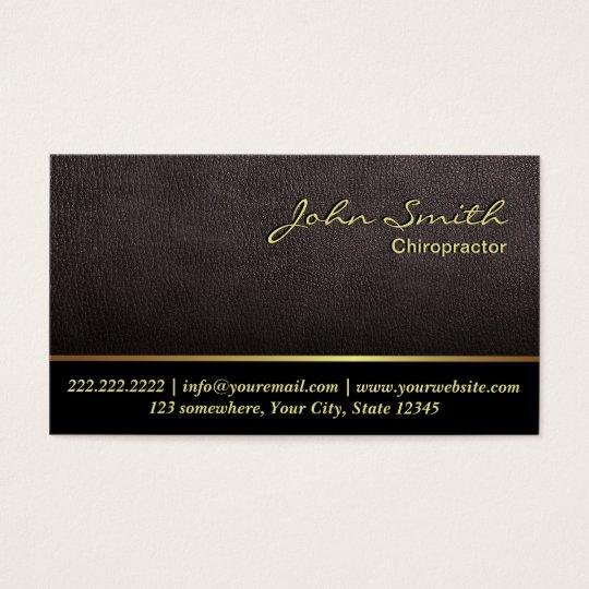 Darker Leather Chiropractor Business Card