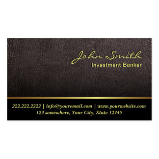 Darker Leather Investment Banker Business Card