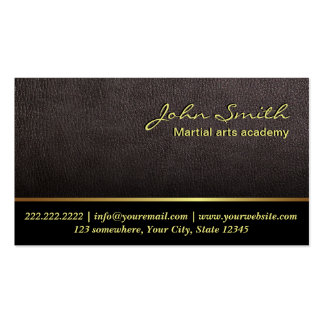 Darker Leather Martial Arts Business Card