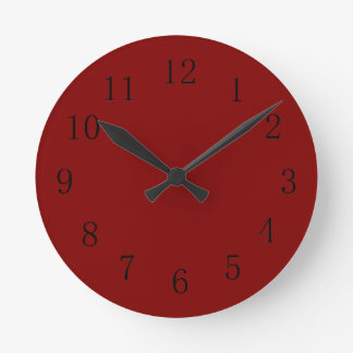 Darker Maroon Red Kitchen Wall Clock