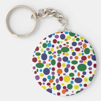 Darker Rainbow Bubbles Keychain