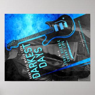 Darkest Days by Athena Wright Tour Poster
