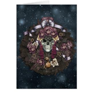 Darkest of Winter Greetings Card