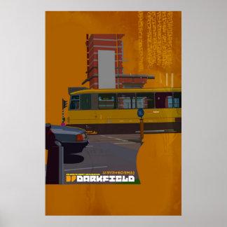 Darkfield tram illustration poster