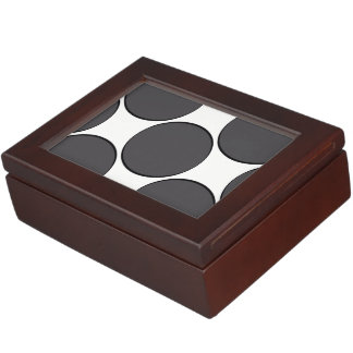 DarkGrey Dot Keepsake Box