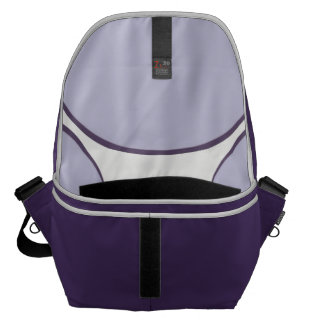 DarkGrey Dot Messenger Bag