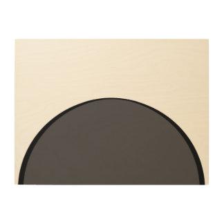 DarkGrey Dot Wood Print
