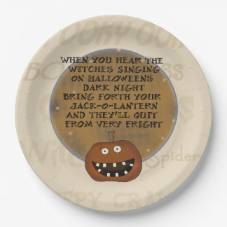 Darkk Night Halloween Party Paper Plates