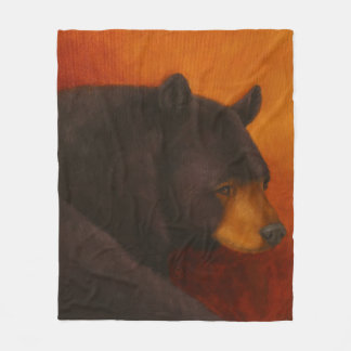Darkly Dreaming Black Bear Fleece Blanket