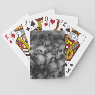 darkness skull head textures playing cards