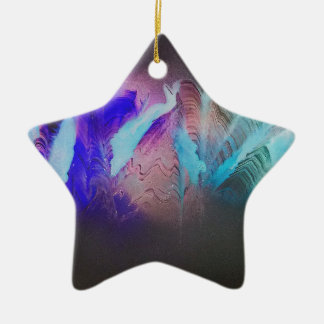 Darkness surrounds the mountains christmas ornament
