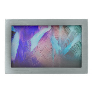 Darkness surrounds the mountains rectangular belt buckle