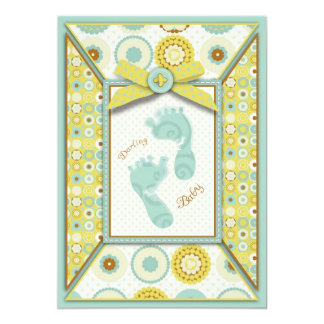 Darling Baby Toes Invitation Card