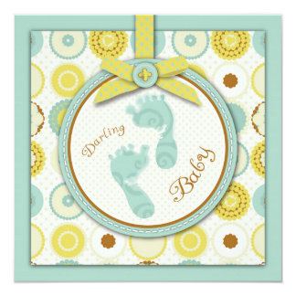 Darling Baby Toes Square Card