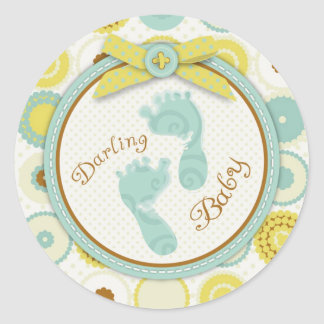 Darling Baby Toes Sticker