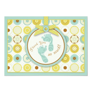 Darling Baby Toes TY Card B2 13 Cm X 18 Cm Invitation Card