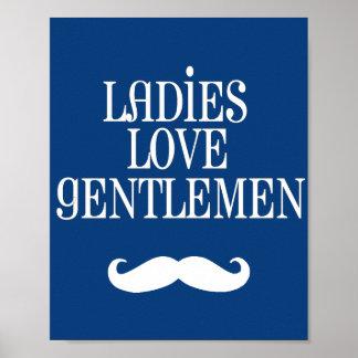 Darling Dapper Ladies Love Gentlemen Nursery Art Poster