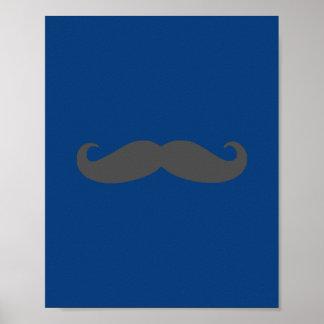 Darling Dapper Moustache Nursery Wall Art