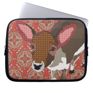 Darling Deer Red Retro Computer Sleeve