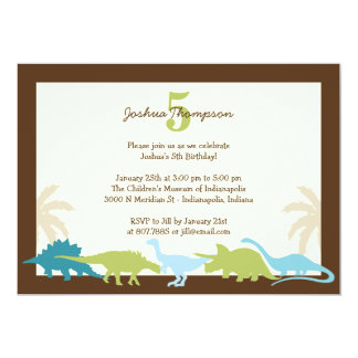 Darling Dinosaurs Birthday Party Invitation