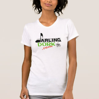 Darling Dork Ladies Fitted Tank in White
