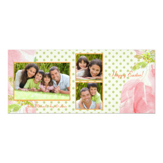 Darling Dots Triple Photo Card Personalized Invitation