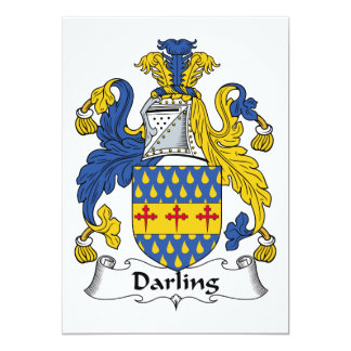 Darling Family Crest Personalized Announcements