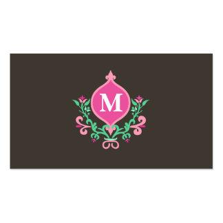 Darling Floral Monogram Business Card