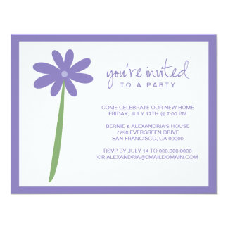 Darling Flower Party Invitation (Purple)