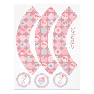 Darling Girl Cupcake Wrapper 2 21.5 Cm X 28 Cm Flyer