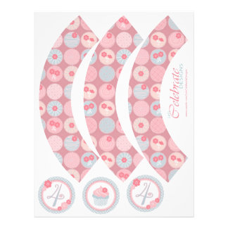Darling Girl Cupcake Wrapper 4 Custom Flyer