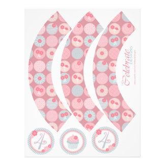 Darling Girl Cupcake Wrapper 4 21.5 Cm X 28 Cm Flyer