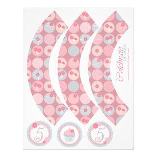 Darling Girl Cupcake Wrapper 5 Full Color Flyer