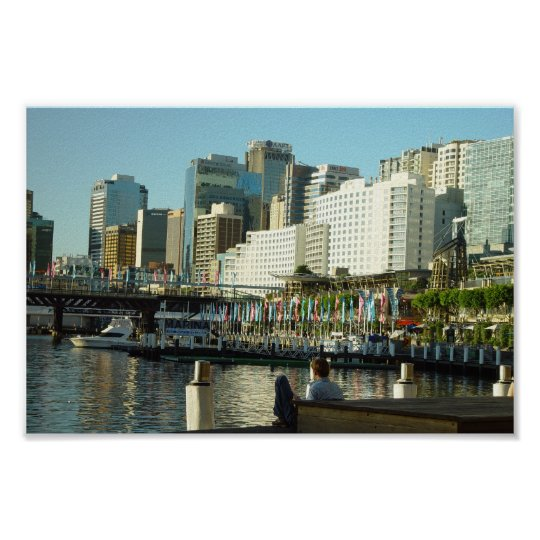 Darling Harbour In Sydney At New South Wales