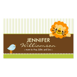 Darling Lime Lion Birdie Mommy Calling Card Business Card Templates